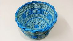 Learn how easy it is to weave a basket using newspaper. This basket is made using the technique of weaving with two tubes and it uses the basic type of edgin...