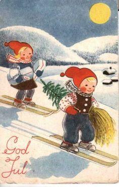 Elbjørg Øien Vintage Christmas Card
