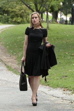 Covert Affairs Fashion Style Black Dress