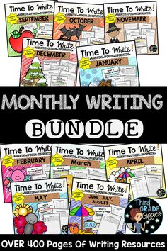 This writing bundle is perfect to help students practice writing all three… Writing Genres, Writing Prompts Funny, Writing Prompts For Writers, Writing Resources, Writing Ideas, Teaching Resources, School Resources, Classroom Resources, Teaching Tools