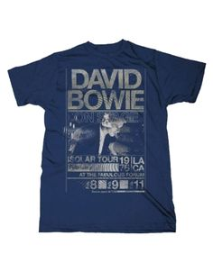 David Bowie Isolar Tour 1976 Slim Fit Mens T-Shirt - Guaranteed Authentic.  Fast Shipping.