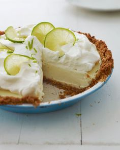 (TESTED & PERFECTED) Made with ordinary supermarket limes, this Key lime pie tastes every bit as authentic as the real deal -- plus it's easier to make. Key Lime Pie, Graham Cracker Crust, Graham Crackers, Oven Racks, The Fresh, Fresh Lime, Cookies Et Biscuits, Stuffed Peppers, Baking