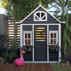 Building your little one a playhouse in the backyard will surely make them happy. However, you'll want it to be safe as well as beautiful. There are a few things you should know before you build a playhouse for kids. Outside Playhouse, Backyard Playhouse, Build A Playhouse, Girls Playhouse, Playhouse Ideas, Kids Cubby Houses, Kids Cubbies, Play Houses, Tree Houses