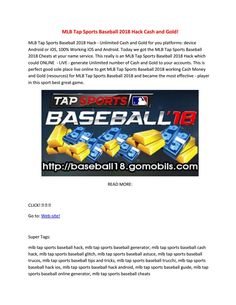 Team up to build your roster and dominate the league in Tap Sports Baseball Team up with a club for your chance to beat the best of the best. Create-A-Player lets YOU dominate the league. Test your MLB predictions in Pick'em to get extra rewar. Sports Baseball, Mlb, Hacks, Money, Silver, Tips