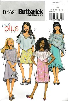 4581 UNCUT Butterick Sewing  Pattern Mother Daughter Matching Jumper Top OOP SEW