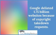 Internet Facts : Copyright takedown | did you know