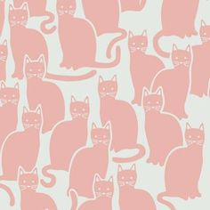 Shadowcat - Aimee Wilder I want this as bathroom wallpaper Illustration Photo, Pattern Illustration, Illustrations, Cat Pattern, Pattern Art, Textile Patterns, Textiles, Pattern Wallpaper, Cat Wallpaper