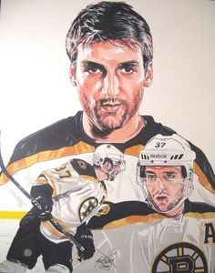 My newest addition to my Hockey Art.  This illustration is of Boston Bruins center Patrice Bergeron.  Original marker drawing done 11x14 in size.