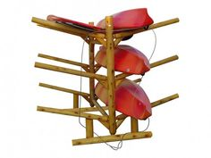 6 Place Kayak/Canoe Rack!  Double Sided! Perfect storing solution for all of your floating toys!