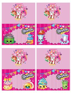 This item is unavailable - Shopkins Party Ideas Shopkins Bday, Free Shopkins, Shopkins Food, Aries Birthday, Kids Party Themes, Party Ideas, 6th Birthday Parties, Birthday Ideas, Party Printables