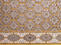 Detail of Fine Mirror and Plaster Work Found in Sheesh Mahal, the City Palace, Jaipur, India Photographic Print