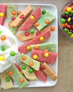 Skittles®️️ Cookie Bars with Cream Cheese Dip. #sharefunshine #ad