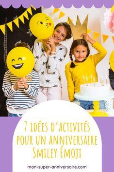 Organiser des activités pour un anniversaire sur le thème Smiley Émoji : les idées les plus fun, les plus originales, les plus créatives… Smiley Emoji, Organiser, Movie Posters, Fun, Disney Cartoons, Colourful Designs, Cool Games, Team Games, Music Activities