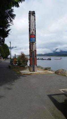 Totem Pole on the harbour at Port Renfrew Hotel (Restaurant)     General Delivery, Port Renfrew,