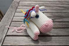 Shy little unicorn, pattern by Ana Paula Rimoli