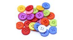 Akril négy lyukú gomb vegyes színekben 15 mm - Csinálj Ékszert Ékszerkellék Webáruház