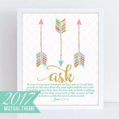 LDS Young Women Theme 2017 Mutual Theme 2017 James 1:56