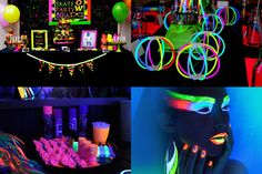 Não pense que esse tipo de festa é só para debutantes. Não, não, não!!! Todas as idades curtem e muito o tema. E as festinhas da minha juve... 13th Birthday Parties, Adult Birthday Party, Skate Party, Neon Party, Cute Themes, Party Themes, Sweet 16, Projects To Try, Birthdays
