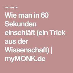 Thema: Gesundheit | Wie man in 60 Sekunden einschläft (ein Trick aus der Wissenschaft) | myMONK.de