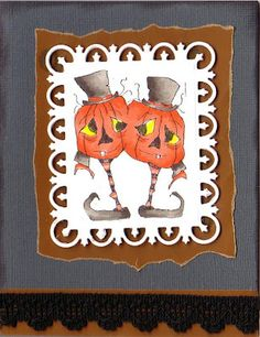 Card by Holley; Sweet Pea Artist Sandra Caldwell, image is Jacko Twosome