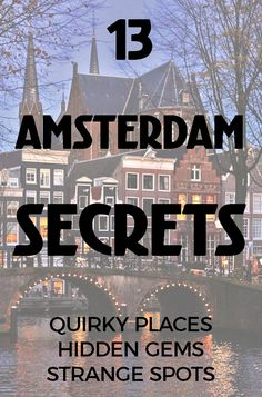 13 AMSTERDAM SECRET PLACES - The city has many secrets, and some of them are places you can visit! These Amsterdam secrets are sitting in plain sight but even some locals haven't discovered them all yet. Here are a few of our hidden favorites. Living In Amsterdam, Amsterdam Things To Do In, Visit Amsterdam, Amsterdam City, Amsterdam Travel, Amsterdam Jordaan, Amsterdam Itinerary, Amsterdam Netherlands, Victoria Hotel Amsterdam