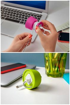 Cord management ideas: The Powercurl Mini cord wrap on Quirky
