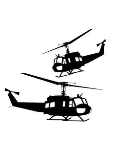 Huey Helicopter SVG Vector