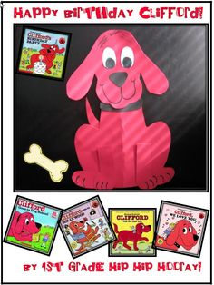 """1st Grade Hip Hip Hooray!: Clifford the Big Red Dog...Craft and """"freebie""""!"""