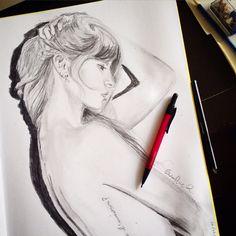 Geraldine Ramírez pencil drawing (self portrait) !