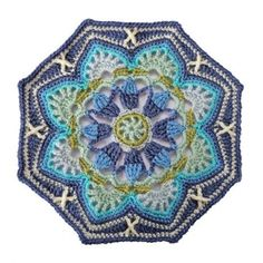Jane Crowfoot's amazing Persian Tile blanket kit in the light blue colourway