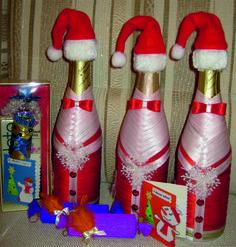 декор бутылок к праздникам - Поиск в Google