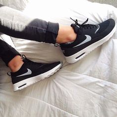 Nike air max thea black white LOVE it #UGG #fashion This is my dream ugg boots-fashion ugg boots! http://uggshoppingonline.blogspot.com/