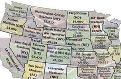 No need to argue - this map shows the biggest stadium in each state!