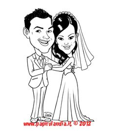 ideas for amazing wedding - - caricature for #invitations by papirolandia.it