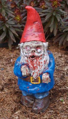 Oh of course if I am going to have yard gnomes they would be zombies!