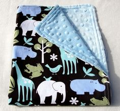 Baby Boy  Gift Set  - Minky Dot - Urban  Zoology
