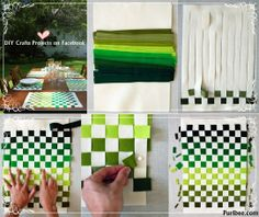 Diy Projects: Woven FeltPlacemats