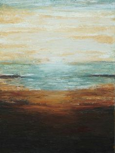 Textured abstract painting ocean seascape texture by LaurenMarems, $250.00…