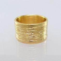 STREAM unique wedding ring 14k gold jewelry gold by UngarMetalArt, $845.00