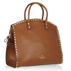 camel leather bag by valentino