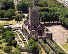 Saint Peter's ruined church in Bristol