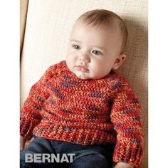 Free Easy Baby Pullover Crochet Pattern