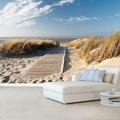 CARTA DA PARATI FOTO ,,Summer Beach 104' 366 x 254cm Ocean Way - oceano mare spiaggia duna - fotomurali - poster gigante - inclusivo pasta polvere di colla NUOVA XXL