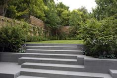 landscaped steps