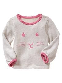 Intarsia rabbit sweater WTW Spring 2013 Baby Gap