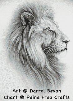 Lion hochwertige emailed PDF cross Stitch von PaineFreeCrafts