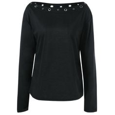 Boat Neck T-Shirt - BLACK M
