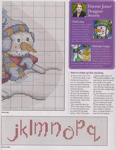 Cross Stitch Christmas Stockings, Cross Stitch Stocking, Christmas Cross, A Christmas Story, Diy Christmas Ornaments, Winter Christmas, Christmas Patterns, Cross Stitch Alphabet, Cross Stitch Patterns