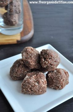 Raw Chocolate Coconut Freezer Fudge Bites - The Organic Dietitian
