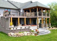 I need to replace my deck.  Since this is the basic layout of my backside of the house I went with this pic.